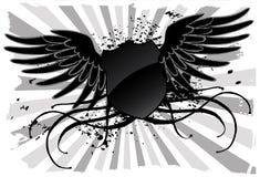 Grunge black shield Royalty Free Stock Photography