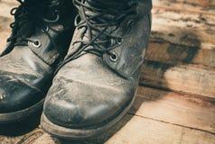 grunge black shoe Stock Images