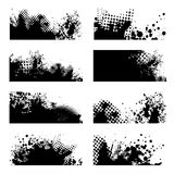 Grunge black splat Stock Photos