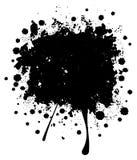 Grunge Black Splatter Stock Photography