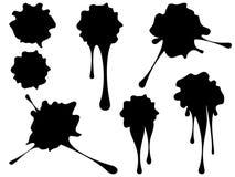 Grunge Black Splatter Stock Images