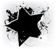Grunge black star. On white background stock illustration