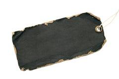 Grunge black tag Stock Photography