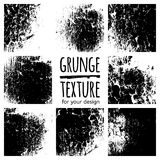 Grunge black textures on white background Royalty Free Stock Photography