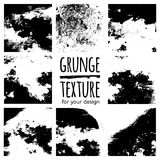 Grunge black textures on white background Stock Photo