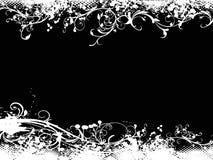 Grunge black vector illustration background Stock Photography