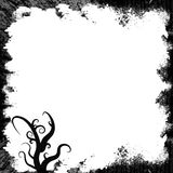 Grunge black whirls frame Stock Photos