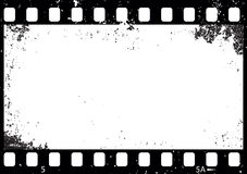 Grunge black and white film frame,  Stock Photos