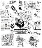 Grunge black and white illustration Stock Photo