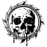 Grunge black and white sign to skull Royalty Free Stock Photography