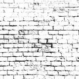 Grunge Black and White Texture. Vector abstract Background and b. Order. Old white brick wall royalty free illustration