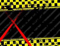 Grunge black and yellow industrial background Stock Images