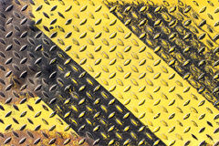 Grunge black and yellow iron Royalty Free Stock Photography
