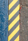 Grunge Black And Yellow Stripes Surface As Warning Or Danger Pat Stock Photo