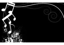 Grunge blanco y negro de la música stock de ilustración