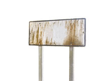 Grunge blank traffic sign on white Stock Image