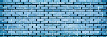 Grunge blaue Backsteinmauerbeschaffenheit stockbild