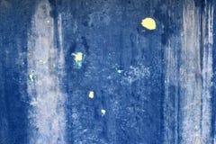 Grunge blauer gealterter Wand-Beschaffenheitshintergrund stockbilder