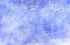 Grunge blauer gemalter Hintergrund Stockbild