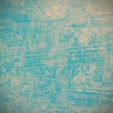 Grunge blauwe achtergrond op cement Stock Foto's