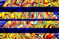 Grunge blauwe, bruine, gele en roze abstracte achtergrond stock afbeelding