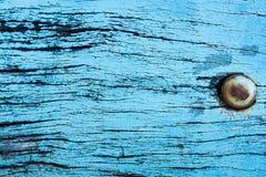 Grunge bleu de belle nature et fond en bois sale de texture Images libres de droits
