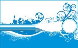 Grunge bleu de fond d'hiver illustration de vecteur
