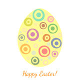 Grunge blobs in a shape of easter egg. Stock Images