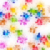Grunge blocked pattern Royalty Free Stock Images