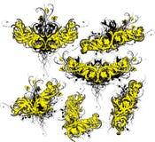 Grunge bloeit Stock Afbeelding