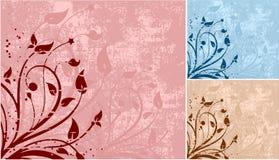 Grunge bloemen Royalty-vrije Stock Foto's