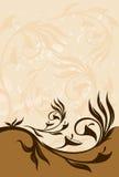 grunge bloemen abstracte banner vector illustratie