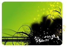 Grunge-bloemen achtergrond Stock Foto
