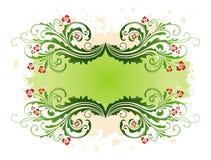Grunge-bloemen frame Stock Afbeelding