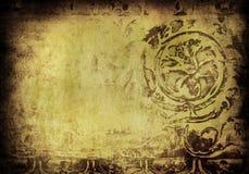 Grunge blom- bakgrund Arkivfoto