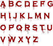 Grunge blood alphabet Royalty Free Stock Photos