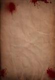 Grunge blood splattered paper background Stock Photos