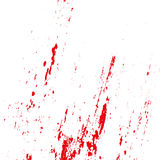 Grunge blood splatters on a white background. Vector illustration Stock Photo