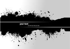 Grunge blot banner Stock Image