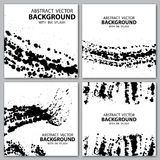 Grunge blots backgrounds Royalty Free Stock Images