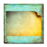 Grunge blue abstract background with sheet of paper Stock Photos