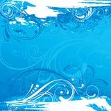 Grunge blue background Stock Images