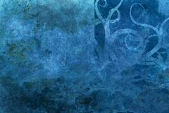 Grunge blue background with space for text Stock Photography