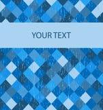 Grunge blue banner Stock Image