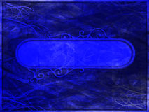 Grunge Blue Banner and Background Stock Photo