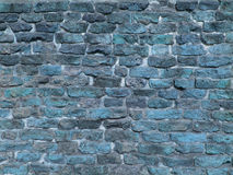 Grunge blue brick wall texture Royalty Free Stock Photo