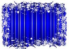 Grunge Blue Christmas Frame Stock Photos
