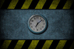 Grunge blue clock Royalty Free Stock Photo