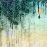 Grunge blue dripping background Stock Photos