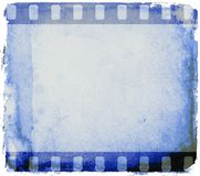 Grunge blue film strip frame. Design element. Grunge blue film strip frame Royalty Free Stock Images